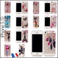 Etui Coque Housse Transparente Silicone TPU Soft Gel Case Cover iPhone 5s SE