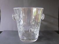 CUT CRYSTAL CHAMPAGNE COOLER / ICE BUCKET - VERY HEAVY! (Ref3801)