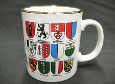 Switzerland Mug With Coat of Arms for the 27 Swiss Cantons by Bockling