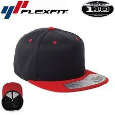 Flexfit 110F One Ten Snapback Black/Red Snapback Cap Schwarz Rot