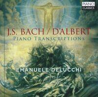 EMANUELE DELUCCHI - PIANO TRANSCRIPTIONS - J,S, BACH, E, D'ALBERT   CD NEW!