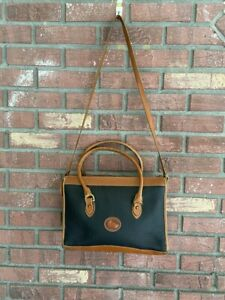 Vintage Dooney and Bourke Satchel~Black and Brown~Handles and Strap