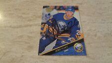 1993-94 Leaf Nhl Hockey Autographed Card #158 Derek Plante - Buffalo Sabres