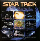 STAR TREK SPACESHIPS IMPERF STAMPS SHEET 2000 HOLOGRAM CENTER FAUX ISSUE SCI-FI