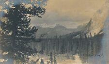 CANADA – Canadian Rockies Real Photo Postcard rppc - udb (pre 1908)