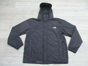 The North Face Mens Resolve Jacket Hyvent Waterproof Rain Coat M Black Quest