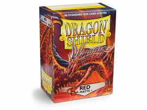 Matte Red Case Display Dragon Shield Standard Size Sleeves - 10 Packs