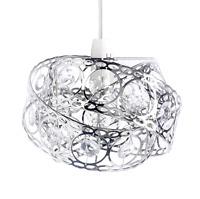Gem Wrap Twist Design Glamour Silver Metal Lamp Shade Easy Fit Light Pendant