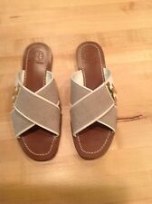 EUC TORY BURCH Culver Flat Slide Sandal  size 7 Worn ONCE!!!!!!!
