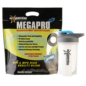 Megapro Whey Protein Powder WPC/WPI Vanilla 2kg & Free Shaker