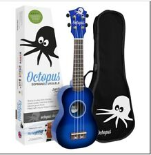 Octopus Soprano Dark Blue Burst Ukulele (New Version)