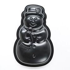 KAISER Holiday Nonstick Snowman CAKE PAN TIN 12-in Includes Recipe ADORABLE NEW