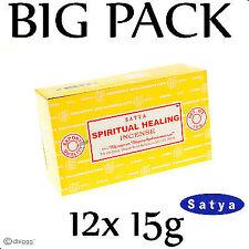 SPIRITUAL HEALING von Satya BIG PACK 12 x 15g Räucherstäbchen Agarbathi