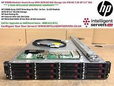 "HP D2600 Smart Array With 36TB 6G SAS Storage 12x HP 3TB 6G 7.2K DP 3.5"" SAS HDD"