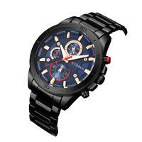 New Fashion CURREN Men's Quartz Wrist Watch Stainless Steel Band Military N3Q9