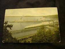 THE MINNESOTA & DAKOTA UN-POSTED PHOTO POST CARD WITH TRAIN CROSSING BRIDGE NICE