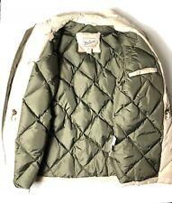 Woolrich Arctic Parka Goose Down Filled Coat Jacket Size MEDIUM beige