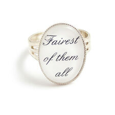 Fairest of them all SNOW WHITE ring fairytale fairy adjustable silver tale apple