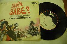 """LUIS ENRIQUEZ"""" QUIEN SABE-disco 45 giri PARADE It 1968"""" OST WESTERN"""