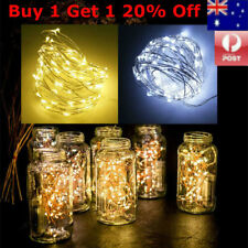 5/10M LED Fairy Lights Battery Powered Copper Wire String Party Xmas White Warm