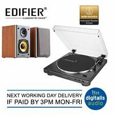 Audio-Technica AT-LP60X plato giratorio y Edifier R1000T4 altavoces activos