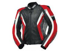 iXS Leather Jacket Coronado Black-Red-White Waterproof Jacket Made Of Rindsnapp