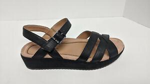 Vionic Violet Strappy Sandals, Black, Women's 8 M
