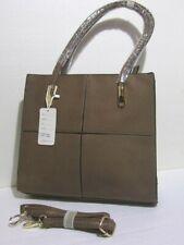 Borsa donna valigetta cammello doppia maniglia o tracolla ecopelle lavorato