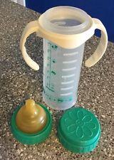 VTG Playtex Drop-Ins Baby Bottle Nurser w Fast Flow Latex Nipple & Handle Unused