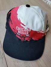 Chicago Bulls Vintage Splash Snapback Logo 7 NBA Official Logo Athletic 1990s