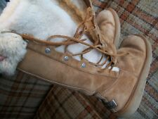 """Ugg Womens 6 Real Fur-Lined Boots (13"""") Drawstring S/N 5163"""