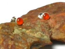 CARNELIAN  Sterling Silver 925 Gemstone Earrings / STUDS - 4 mm - Gift Boxed
