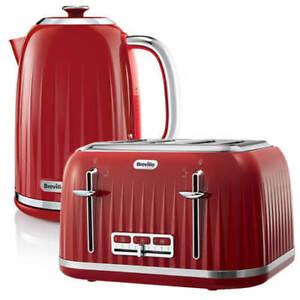 Kettle Toaster Set 4 Slice Red Gift Cheap Buy Sale Breville Impressions VTT783