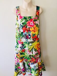 Target Collection Ladies Size 20 Stunning Floral Summer Dress Party Wedding