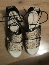 BNWT Ladies Snake Print With Leg Tie Sandals By Asos (Size 6/39)