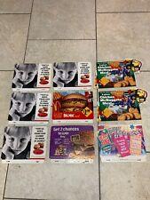9 McDonalds POS Display Sign Advertisement Cardboard Lot Big Mac Disney 1968