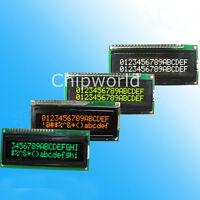 LCD1602A Zeichen Dot Matrix LCD Display Modul 16x2 Black Background 4 Farben