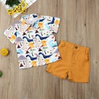 Toddler Newborn Kids Baby Boys Clothes T-shirt Tops+Short Pants Outfits Sets