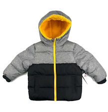 SWISS TECH Puffer Hoodie Jacket Toddlers Boys Size 2T Black and Gray Lined
