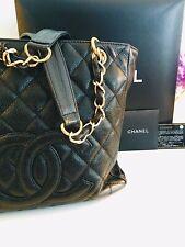 Chanel Caviar CC Petite Shopper Tote Bag