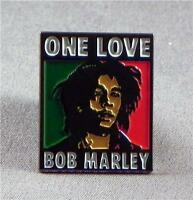 Metal Enamel Pin Badge Brooch Bob Marley One Love Reggae
