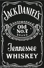 Jack Daniels 22x34 Whiskey Label Poster Beer Liquor Booze