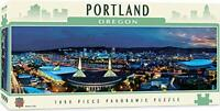 MasterPieces Cityscapes Panoramic Jigsaw Puzzle, Downtown Portland, 1000 Pieces