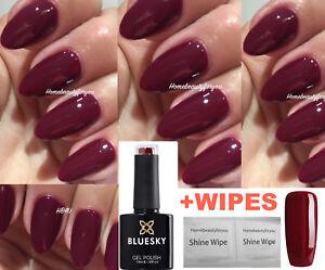 BLUESKY GEL POLISH PRETTY PLUM BURGUNDY RED 80557 UV LED SOAK OFF,ANY 2 GEL=FILE