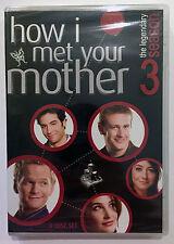 HOW I MET YOUR MOTHER Season 3 (DVD, 2008, 3-Disc Set) NEW
