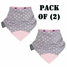 Pack of (2) The Neckerchew Cotton Machine washable Baby Products Polka Dot Pink