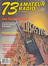 73 Amateur Radio Magazine April 1988 . Leonid Labutin , Kenwood TS-140, Icom