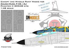 F-4E F-4EJ Canopy & Wheels Paint Masks Interior & Exterior 1/48 for Zoukei-Mura