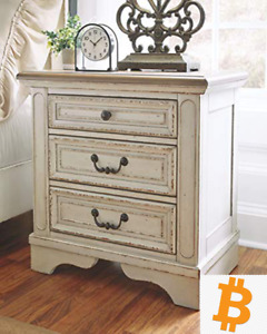 Signature Design by Ashley Realyn Two-Tone Three Drawer Nightstand - NEW