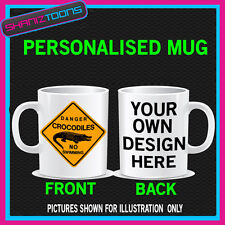 AUSTRALIAN AUSTRALIA CROCODILE SIGN PERSONALISED MUG